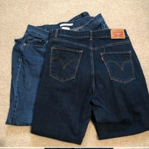 2 Levi's stretch denim